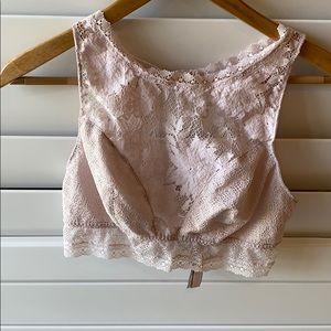 VS lace bra size large